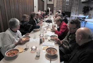 Monthly soup and bread meal after worship