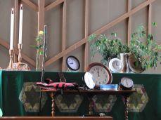 Clock altar
