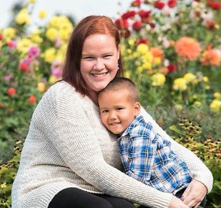 Heather Holcome and 5 yr old son Skyler Preschool teacher