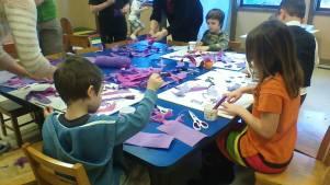 Making Purple for Lent