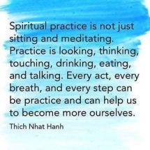 Sprirtual Practive Quote